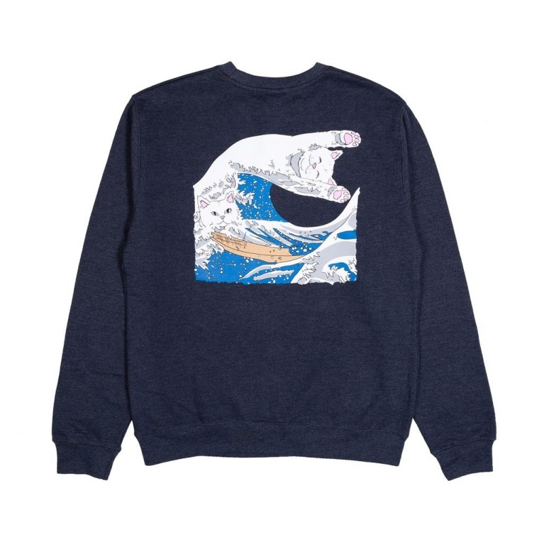 Кофта Ripndip Great Wave Crewneck Navy