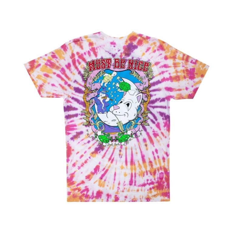 Футболка Ripndip Wizard Tee Gold/Purple Tie Dye