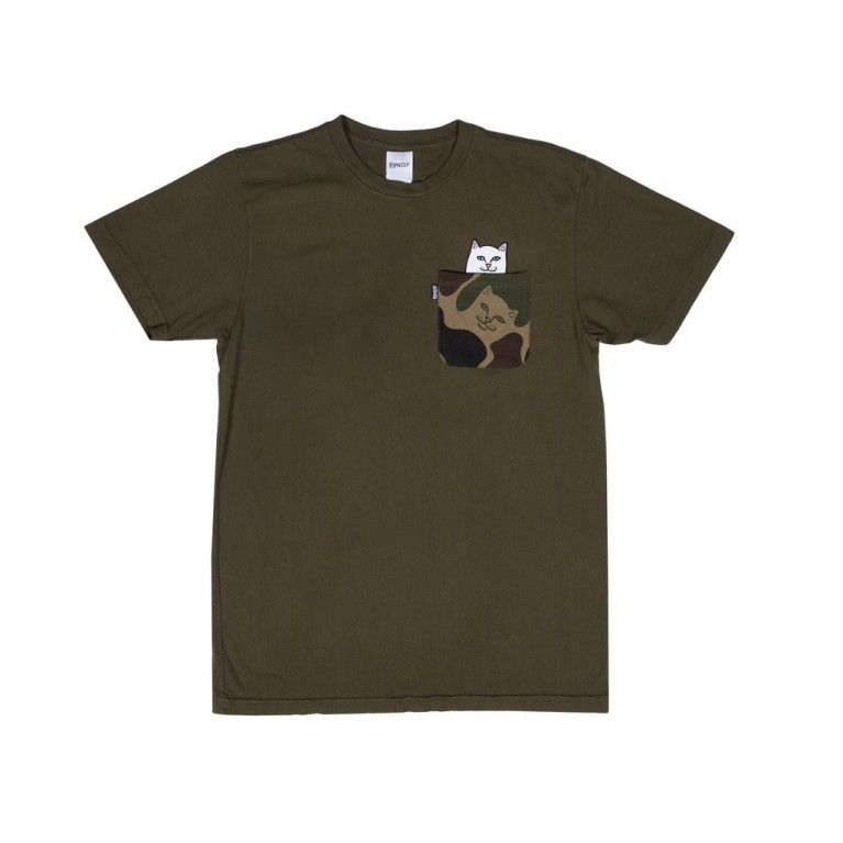 Футболка Ripndip Lord Nermal Camo Pocket Tee Army camo