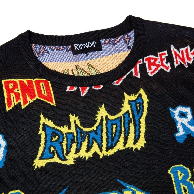 Свитер Ripndip Rock N Nerm Sweater Black