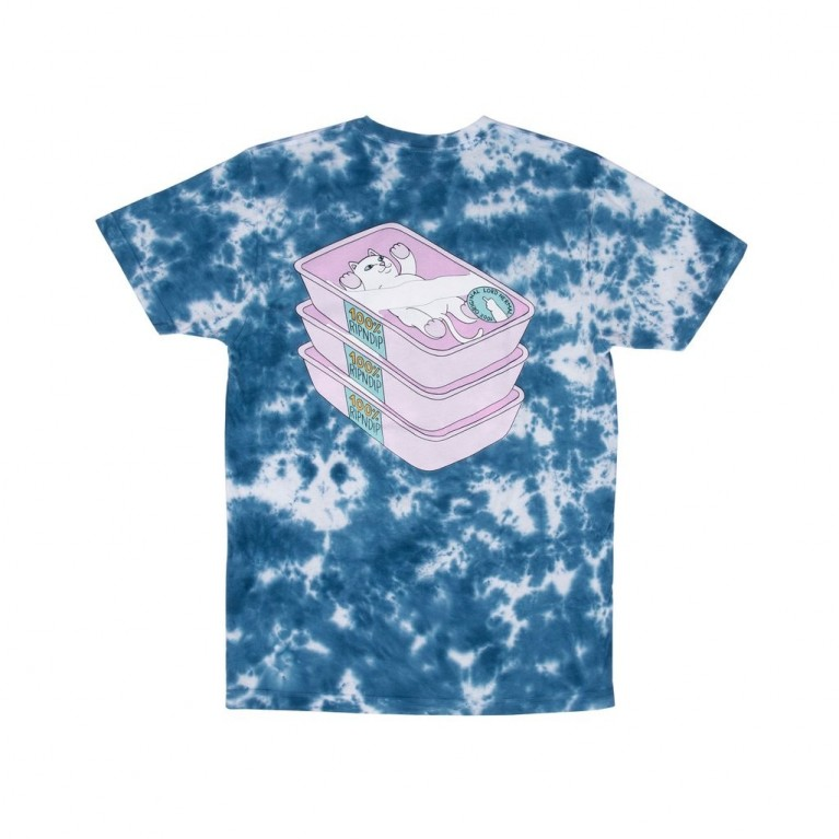 Футболка Ripndip Prime Cut Tee Blue / Pink Lightning Wash