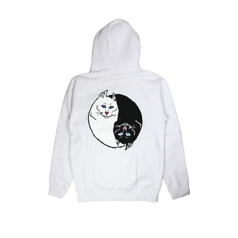 Толстовка Ripndip Nermal Yang Pullover Sweater White