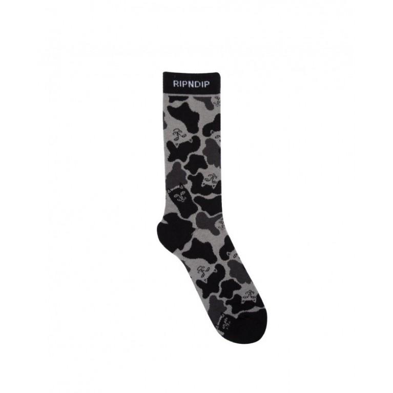 Носки ripndip nerm camo socks black camo