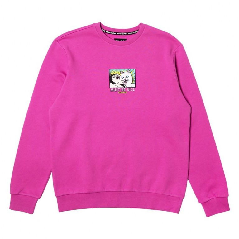 Кофта Ripndip Lady Friend Crewneck Fuchsia