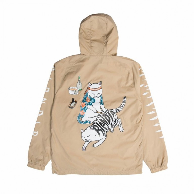 Анорак Ripndip Tatto Nerm Half Zip Anorak Jacket Tan