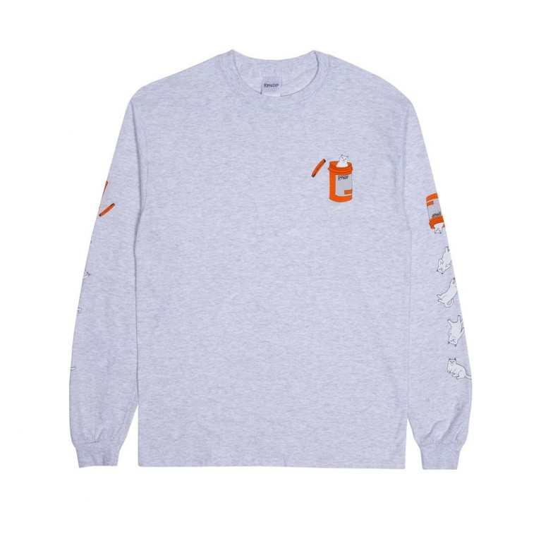 Лонгслив Ripndip Nermal Pills L/S Ash Grey