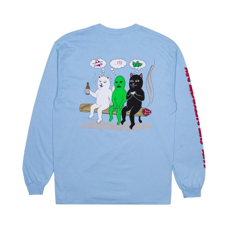 Лонгслив Ripndip Same Dreams LS Light Blue