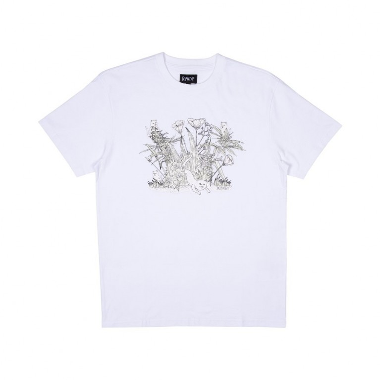 Футболка Ripndip Nerm Paradise Tee (UV ACTIVATED INK) White
