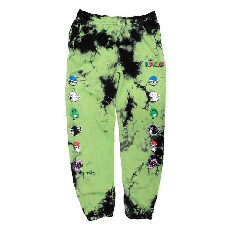 Штаны Ripndip Nermio Sweat Pants Black / Green Lightning Wash