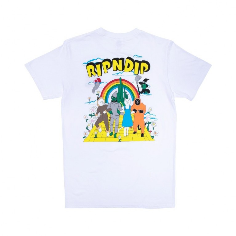 Футболка Ripndip No Place Like Home Tee Blue Stripe Tie Dye