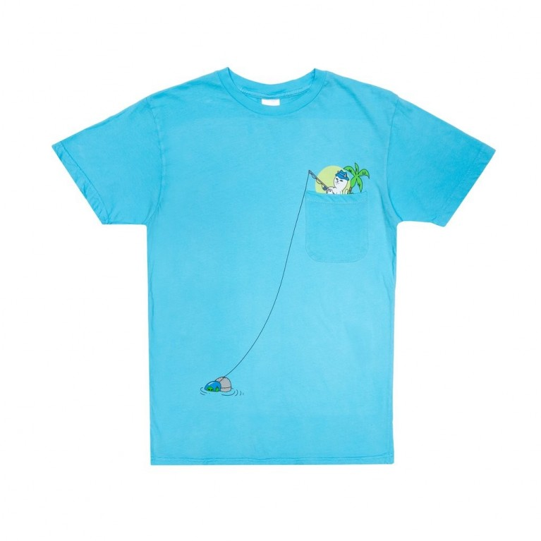 Футболка Ripndip Foreign Fish Pocket Tee Light Blue