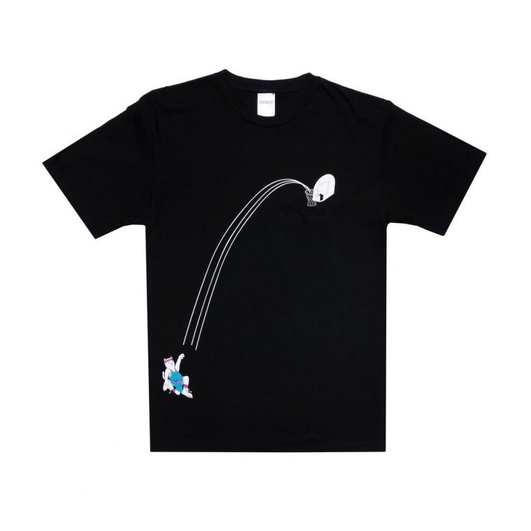 Футболка Ripndip Hoops Pocket Tee Black