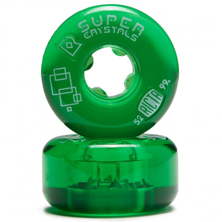 Колеса ricta super crystals green 99а/52mm