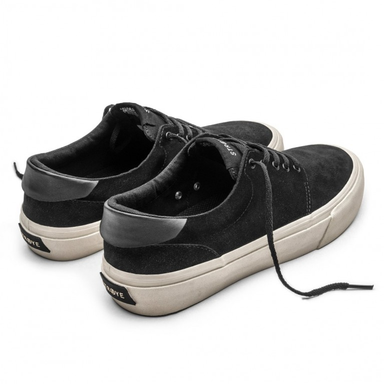 Кеды Straye Fairfax Black Bone Suede