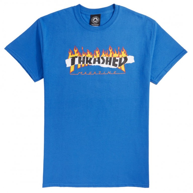 Футболка Thrasher Ripped Royal Blue