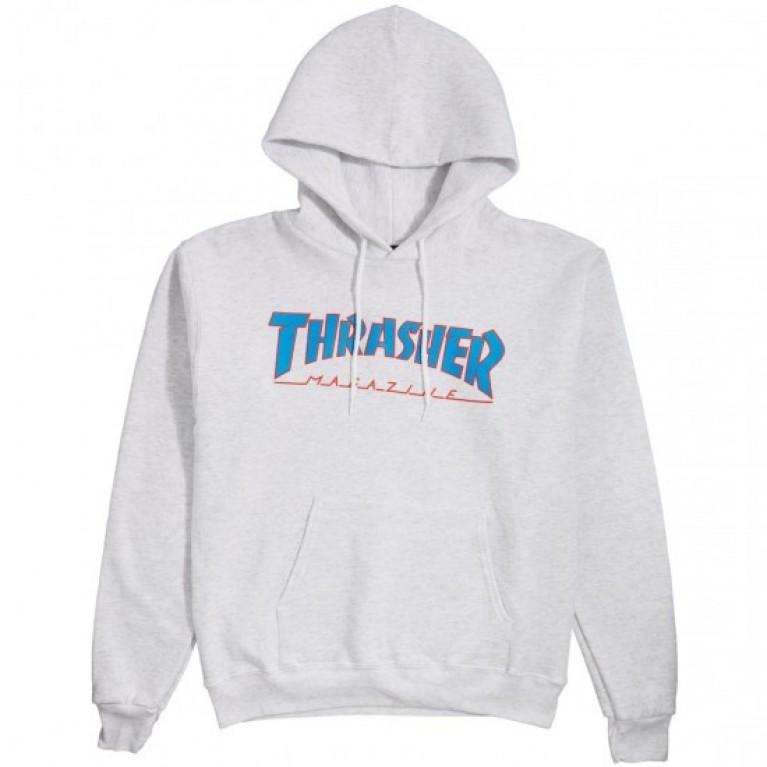 Толстовка Thrasher Outline Hoodie Ash