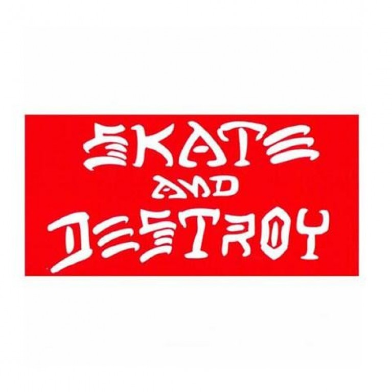 Стикер Thrasher Skate & Destroy Small Red