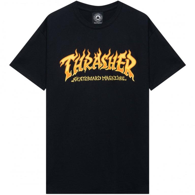 Футболка Thrasher Fire Logo Black