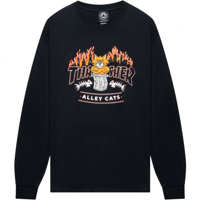 Лонгслив Thrasher Alley Cats L/S Black