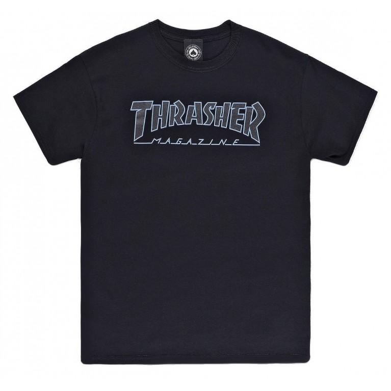 Футболка Thrasher Outlined Black/Bkack