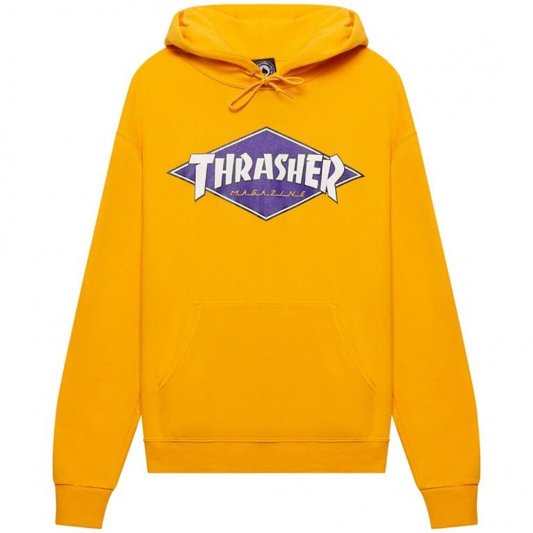Толстовка Thrasher Diamond Logo Hoodie Gold