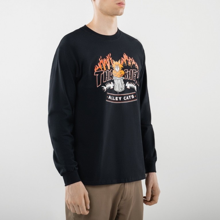 Thrasher Alley Cats L/S Black
