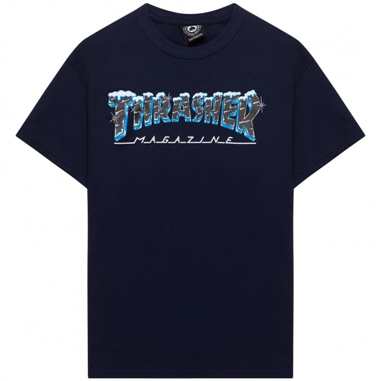 Футболка Thrasher Black Ice Navy