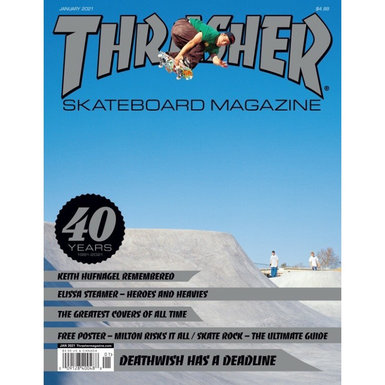 Журнал Thrasher Magazine January  2021