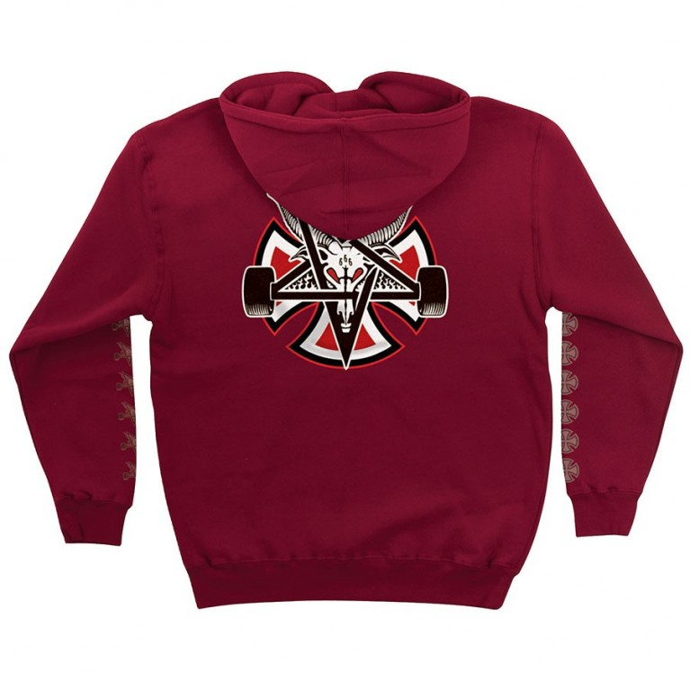 Толстовка м Independent x Thrasher Pentagram Cross Pullover Garnet