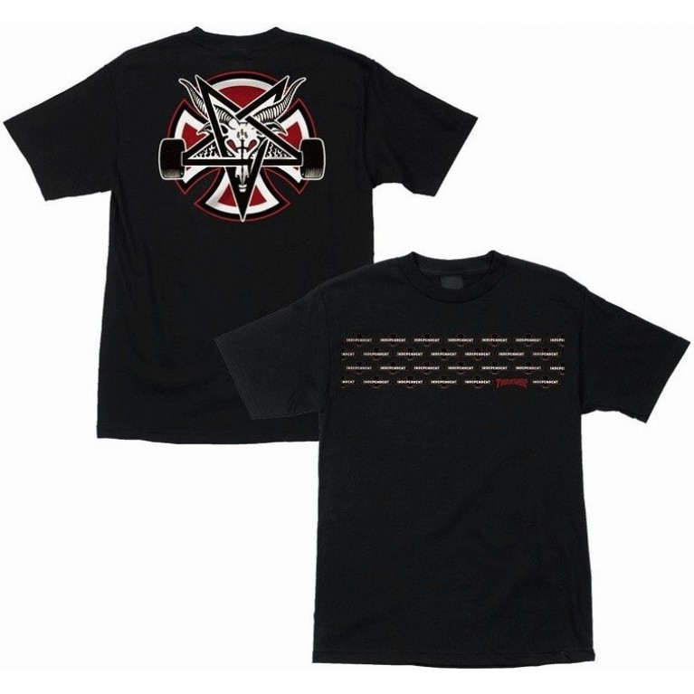 Футболка Independent x Thrasher Pentagram Cross T-Shirt Black
