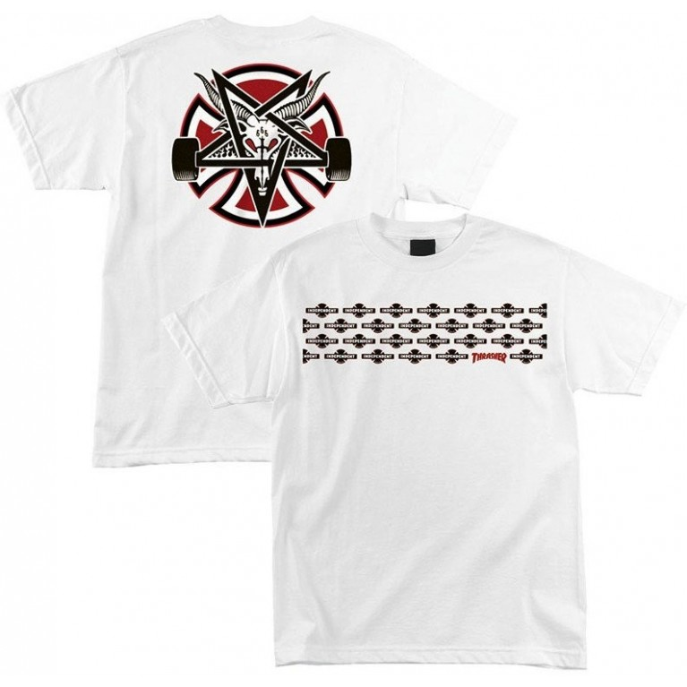 Футболка Independent x Thrasher Pentagram Cross T-Shirt White