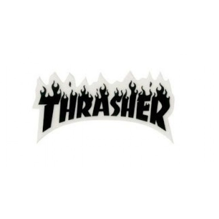 Стикер Thrasher Flame Logo Small Black