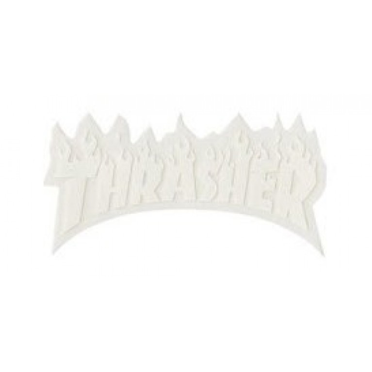 Стикер Thrasher Flame Logo Small White