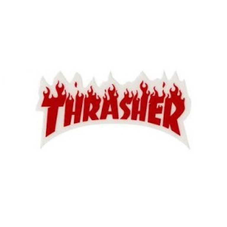 Стикер Thrasher Flame Logo Small Red
