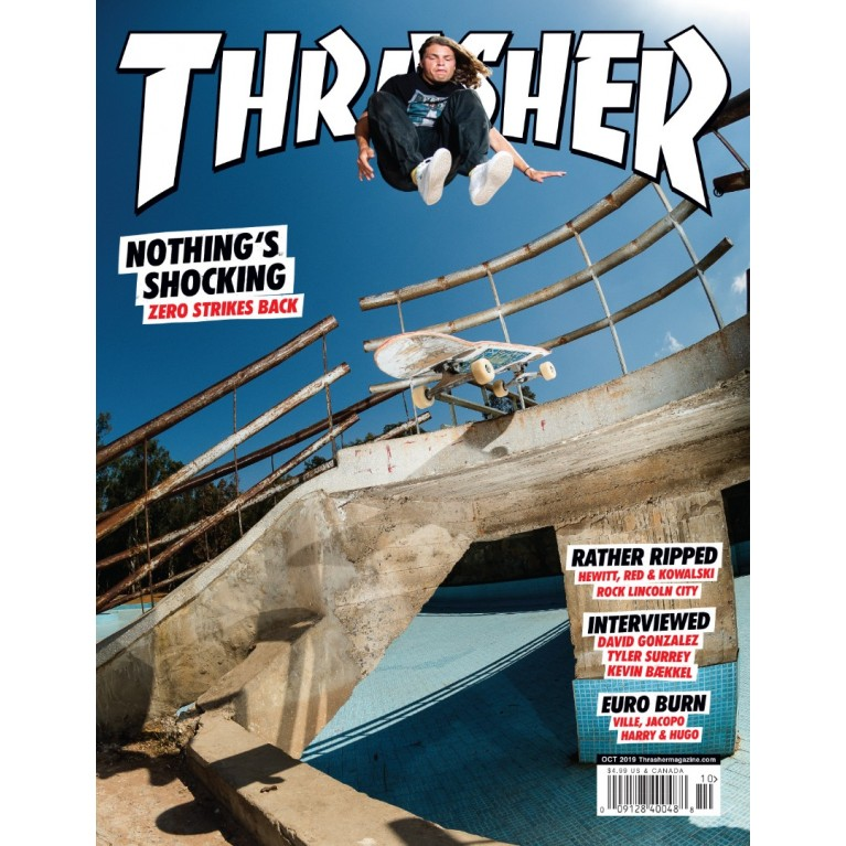 Журнал Thrasher Magazine October 2019