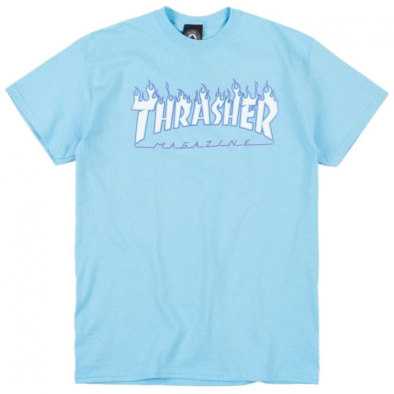 Футболка Thrasher Flame Sky Blue