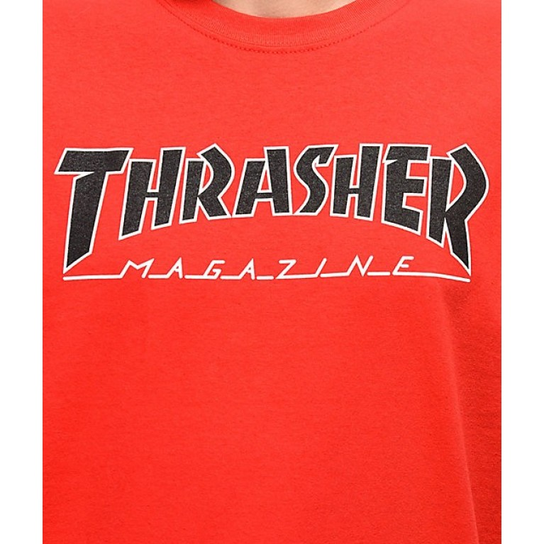 Футболка Thrasher OUTLINED RED