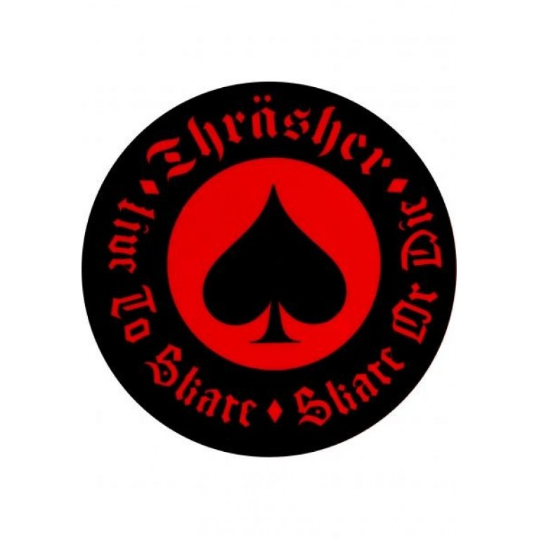 Стикер Thrasher Oath Red
