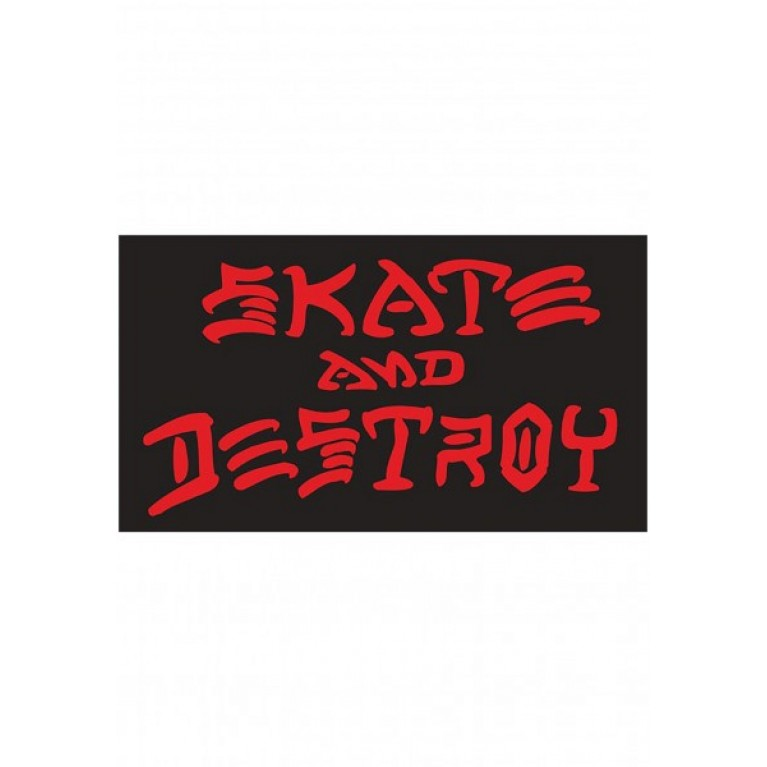 Стикер Thrasher Skate & Destroy Small Black