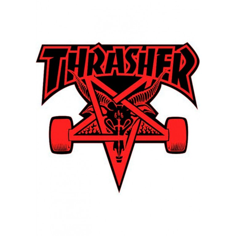 Стикер Thrasher Skategoat Die Cut red