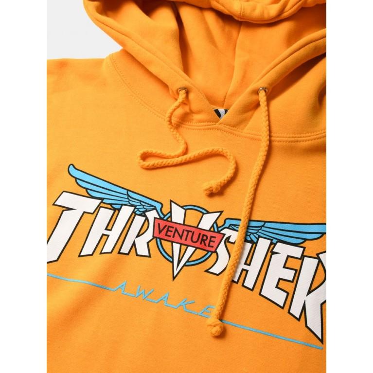 Толстовка Thrasher Venture Collab Hoodie Gold