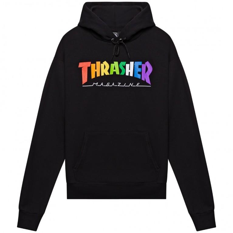 Толстовка Thrasher Rainbow Mag Hoodie Black