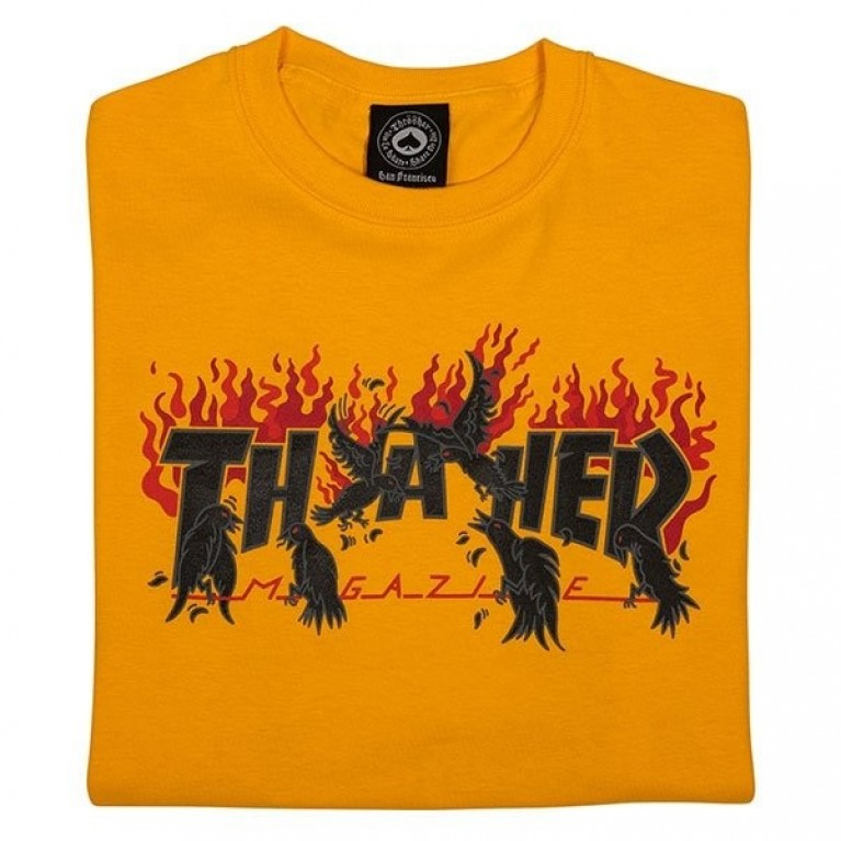 Футболка Thrasher Crows Gold