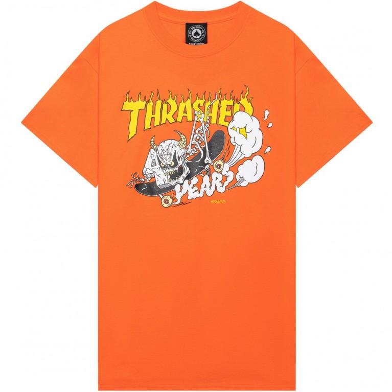 Футболка Thrasher 40 Years Neckface Orange