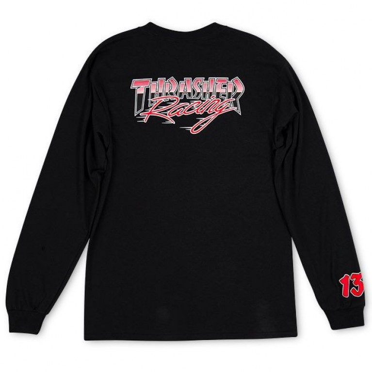 Лонгслив Thrasher Racing Longsleeve Black