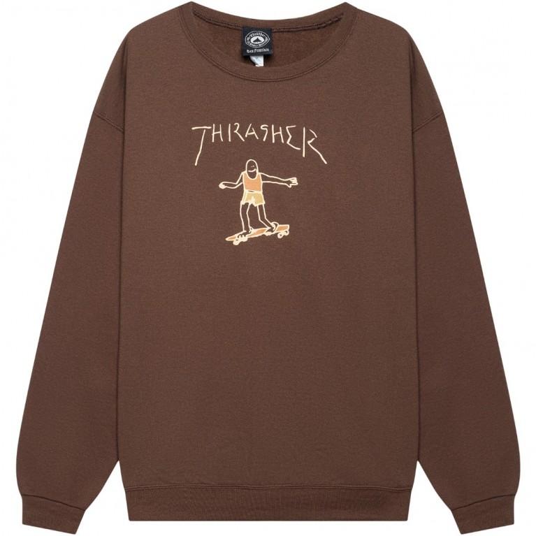 Кофта Thrasher Gonz Logo Crew Dark Chocolate