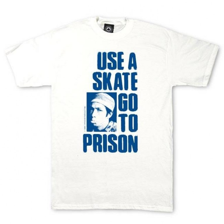 Футболка Thrasher Use A Skate Go To Prison White
