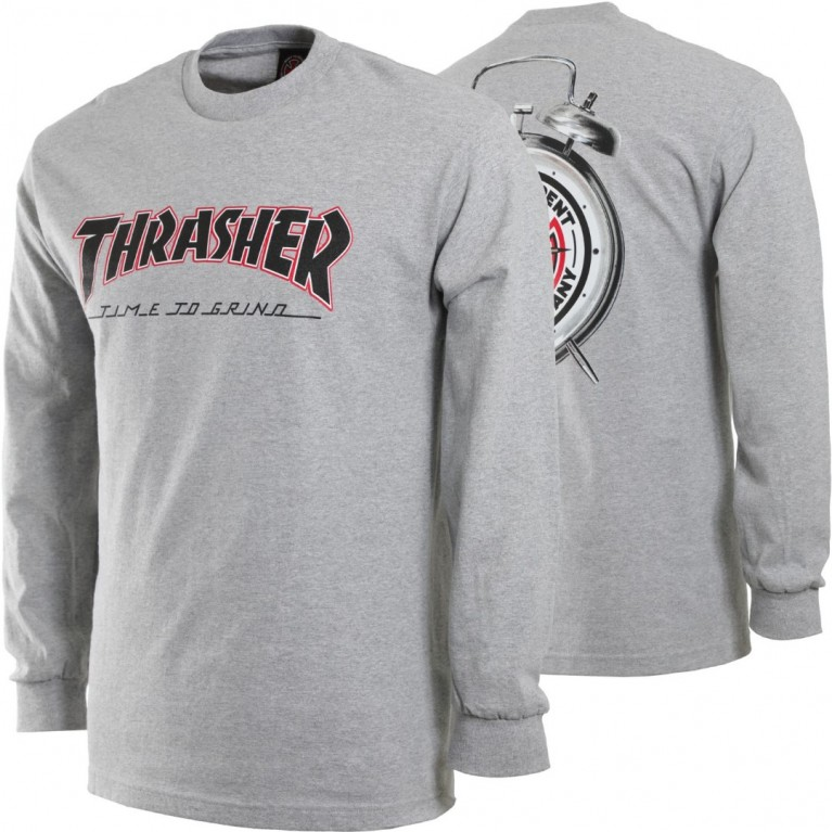 Лонгслив Independent x Thrasher TTG L/S Athletic Heather