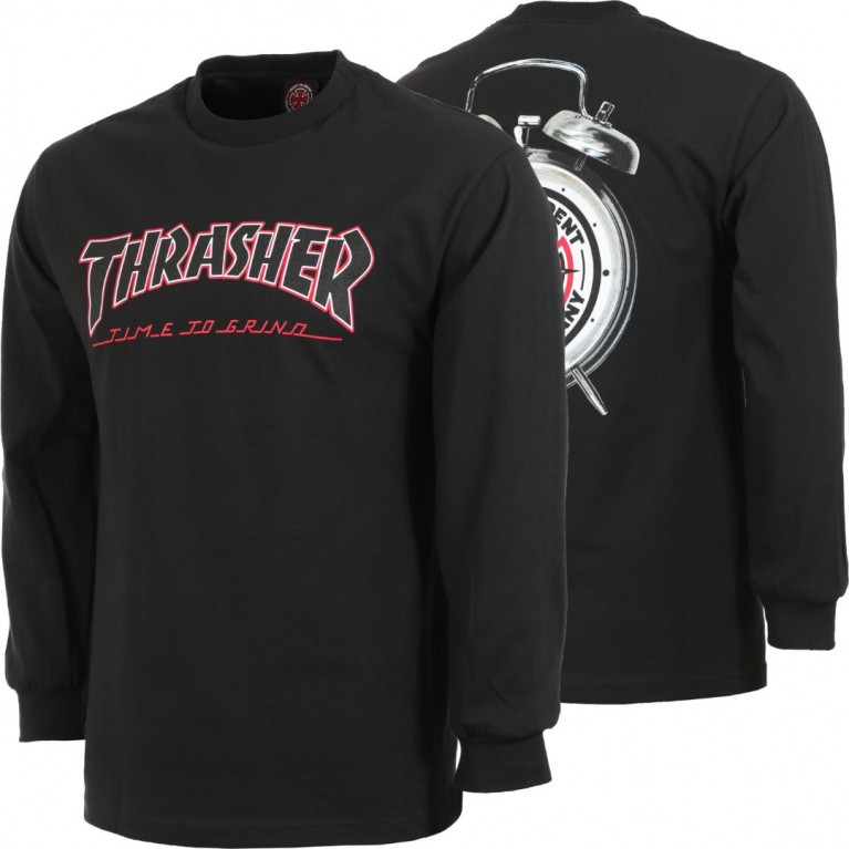 Лонгслив Independent x Thrasher TTG L/S Black