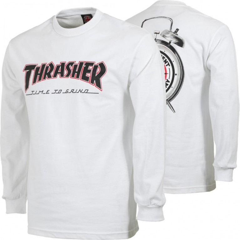 Лонгслив Independent x Thrasher TTG L/S White